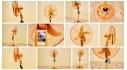 Quạt cây công nghiệp Futaco B5 (5 lá) thân vàng da đồng
