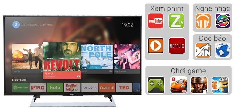 Android Tivi Sony 43 inch KD-43X8000E - Ứng dụng