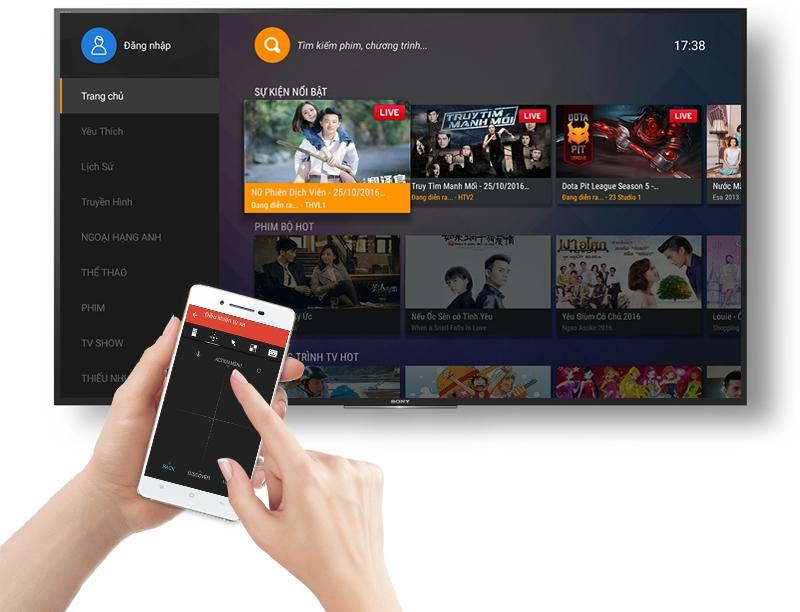 Android Tivi Sony 43 inch KD-43X8000E - Điều khiển tivi bằng điện thoại