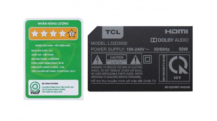 Tivi TCL L40D3000 40inch
