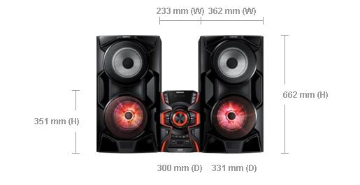 Kích thước MX-HS6500/XV