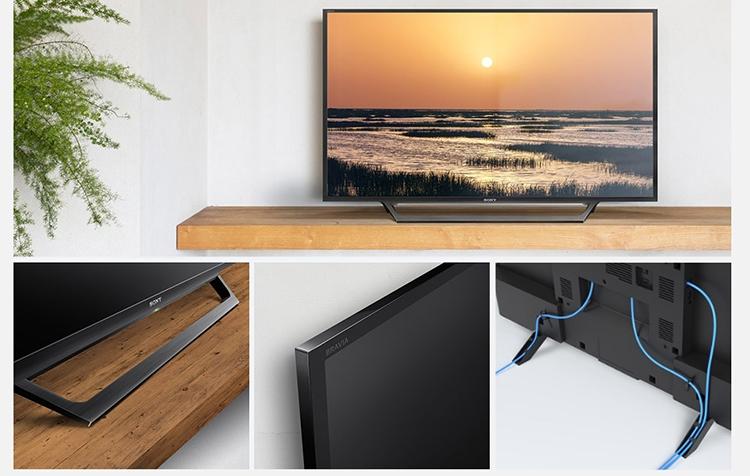Tivi Sony W650D với thiết kế chân đế tinh tế