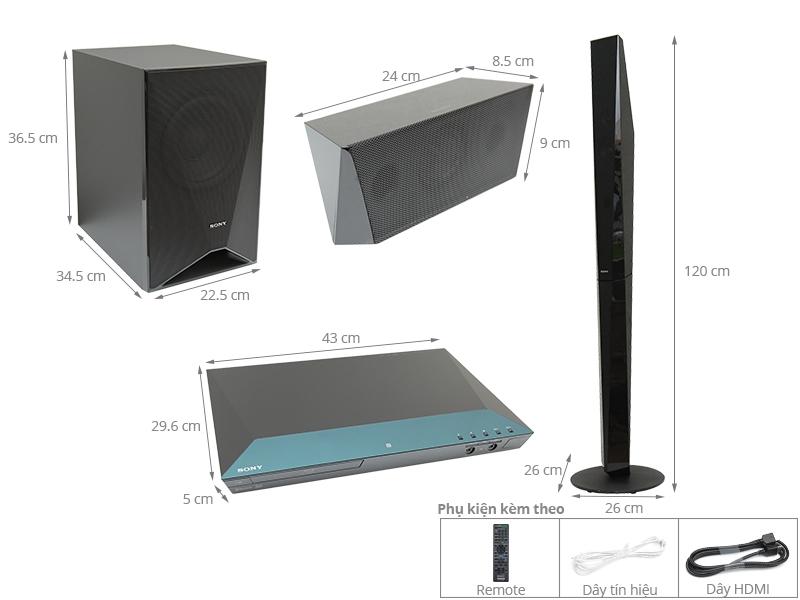 Thông số kỹ thuật Dàn âm thanh 5.1 Sony BDV-E6100