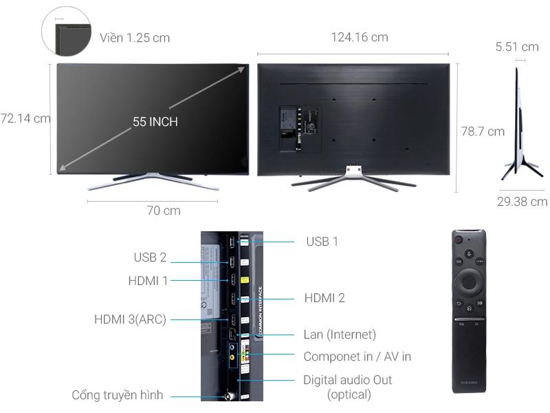 Thông số kỹ thuật Smart Tivi Samsung 55 inch UA55M5520