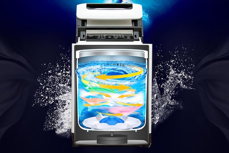 Giặt sạch mạnh mẽ với luồng nước Dancing