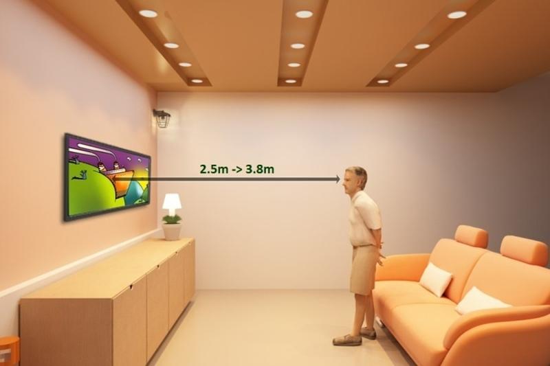 Smart Tivi TCL 50 inch L50C1-UF - Khoảng cách phù hợp để xem tivi