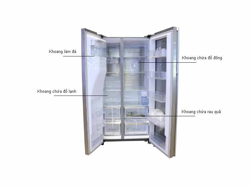 Tủ lạnh Side by side Samsung RH58K6687SLSV