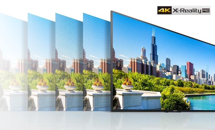 Chip xử lý 4K X-Reality Pro nâng cấp chất lượng hình ảnh
