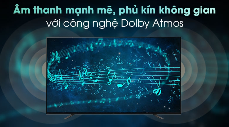 Android Tivi OLED Sony 4K 65 inch KD-65A8H - Công nghệ Dolby Atmos