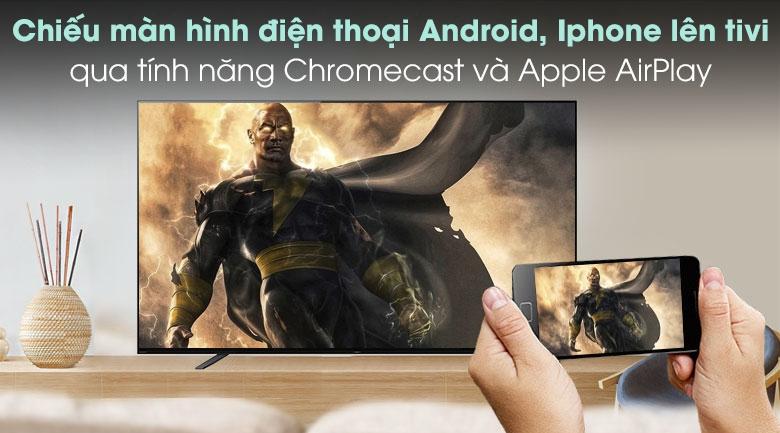 Android Tivi OLED Sony 4K 65 inch KD-65A8H - Chiếu màn hình điện thoại lên tivi