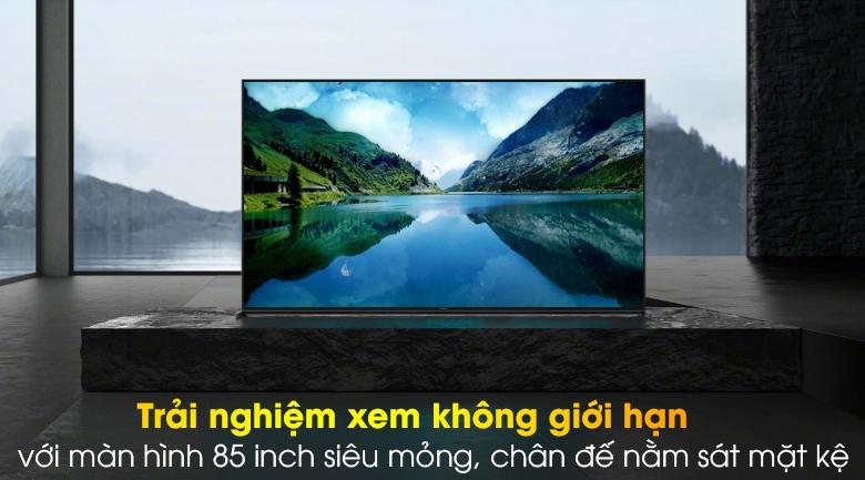 Android Tivi Sony 8K 85 inch KD-85Z8H - Màn hình siêu mỏng