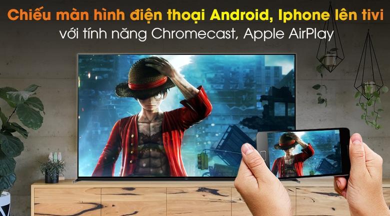 Android Tivi Sony 8K 85 inch KD-85Z8H - Chiếu màn hình bằng Chromecast và Apple AirPlay