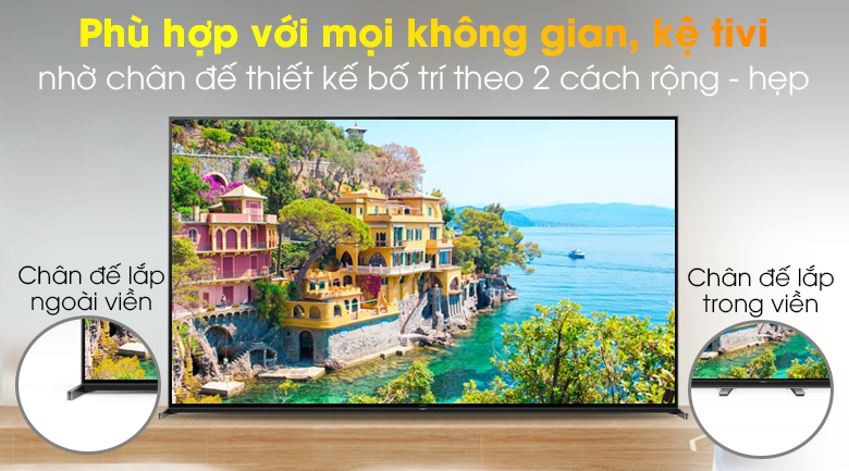 Android Tivi Sony 8K 85 inch KD-85Z8H - Dễ dàng bố trí