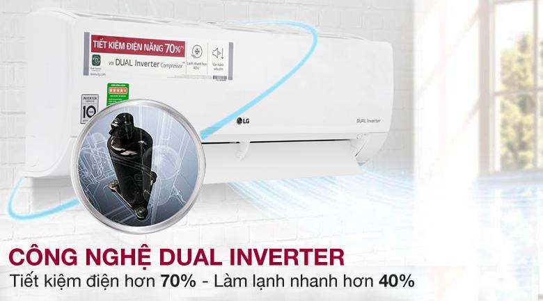 Công nghệ Dual Inverter - Máy lạnh LG Inverter 1 HP V10ENW