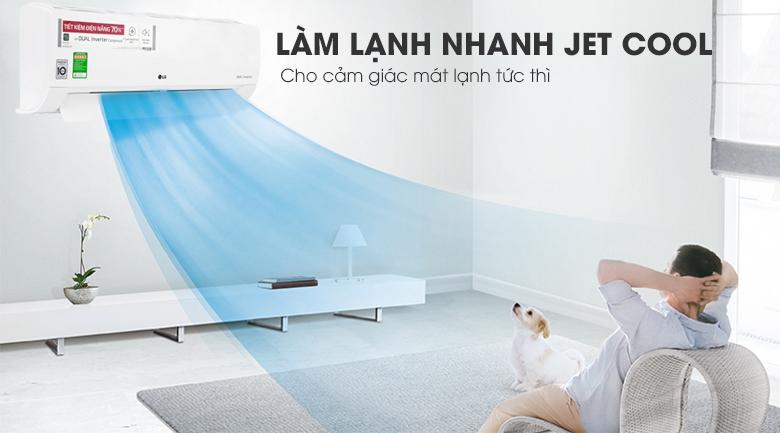 Làm lạnh nhanh Jet Cool - Máy lạnh LG Inverter 1 HP V10ENW