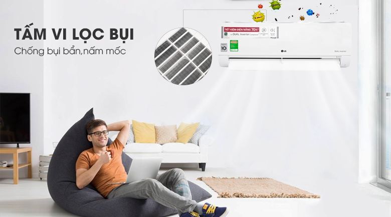 Tấm vi lọc bụi - Máy lạnh LG Inverter 1 HP V10ENW