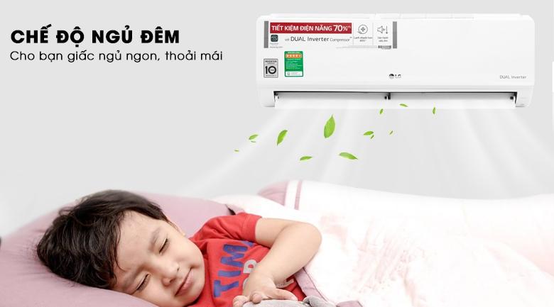 Chế độ ngủ đêm - Máy lạnh LG Inverter 1 HP V10ENW