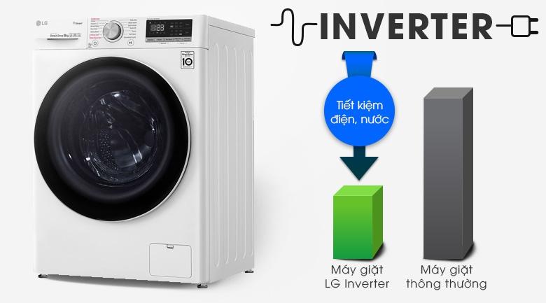 Máy giặt LG Inverter 8.5 kg FV1408S4W | Tiết kiệm điện nước