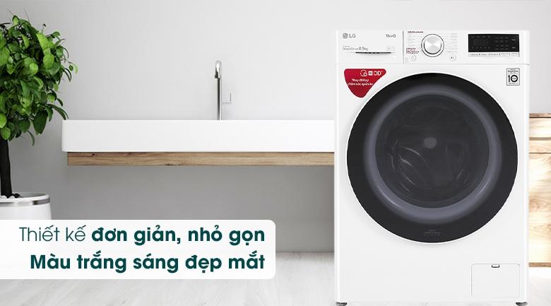 Máy giặt LG Inverter 8.5 kg FV1408S4W - Thiết kế