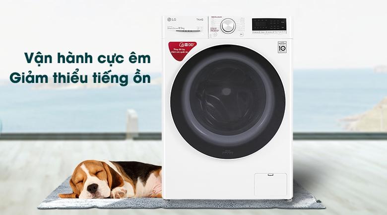 Máy giặt LG Inverter 8.5 kg FV1408S4W - Vận hành cực êm