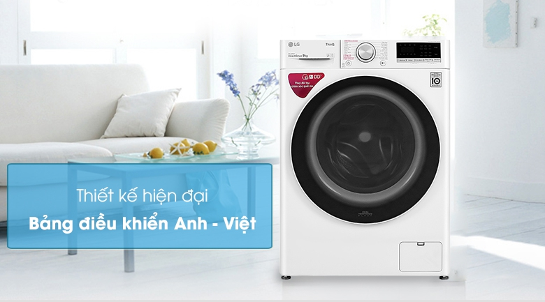 Máy giặt LG Inverter 9 kg FV1409S4W - Thiết kế hiện đại