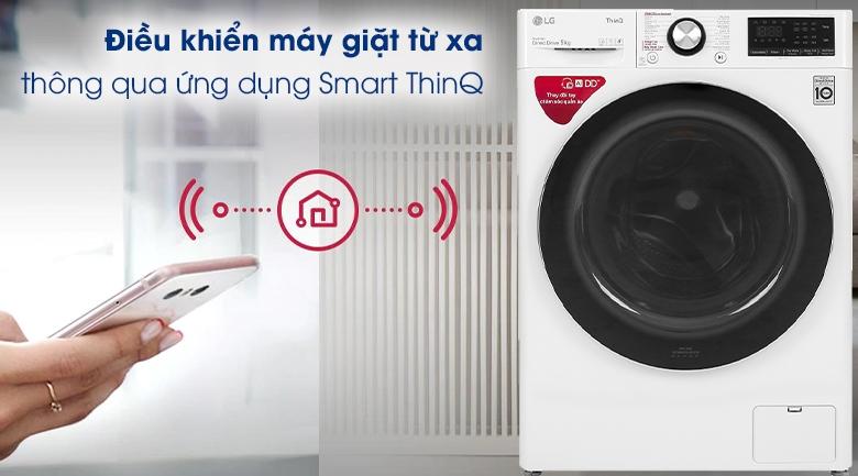Máy giặt LG Inverter 9 kg FV1409S2W  - Điều khiển máy giặt từ xa