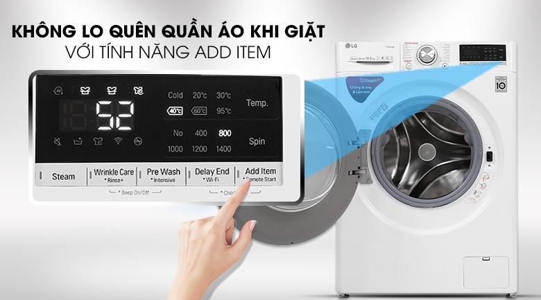Máy giặt LG Inverter 10.5 kg FV1450S3W - Có thể thêm đồ khi máy đang hoạt động
