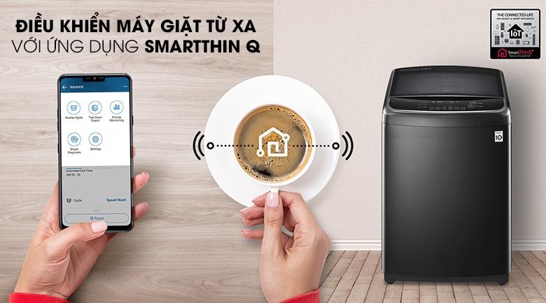 Kết nối với ứng dụng LG SmartThinQ - Máy giặt LG Inverter 19 kg TH2519SSAK