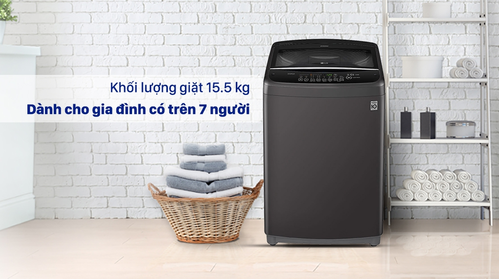 Máy giặt LG T2555VSAB - Khối lượng giặt 15.5 kg