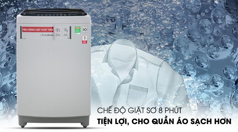 Chương trình giặt sơ tiện lợi giúp quần áo sạch hơn - Máy giặt LG Inverter 10.5 kg T2350VS2M