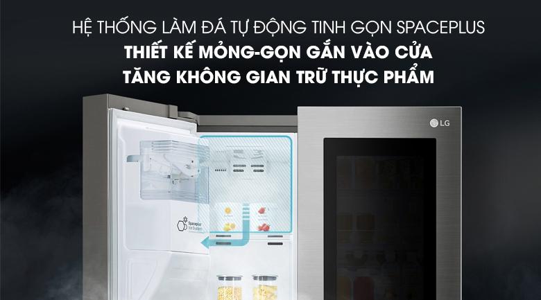 Độc đáo với hệ thống làm đá tự động, tiết kiệm không gian - Tủ lạnh LG Inverter InstaView Door-in-Door 601 lít GR-X247JS