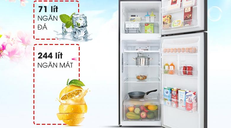 Dung tích 315 lít - Tủ lạnh LG Inverter 315 lít GN-M315BL
