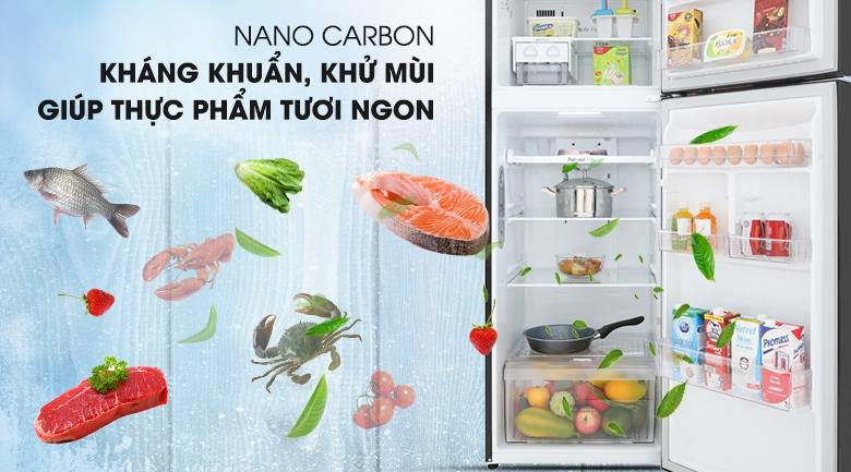 Khử mùi Nano Carbon - Tủ lạnh LG Inverter 315 lít GN-M315BL