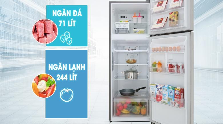 Dung tích 315 lít - Tủ lạnh LG Inverter 315 lít GN-M315PS