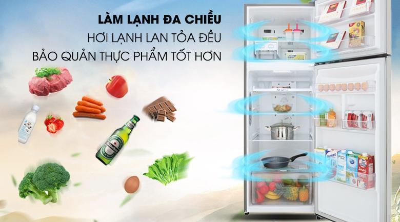 Làm lạnh đa chiều - Tủ lạnh LG Inverter 315 lít GN-M315PS