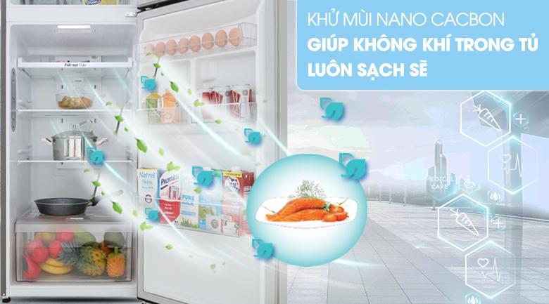 Khử mùi Nano Carbon - Tủ lạnh LG Inverter 315 lít GN-M315PS