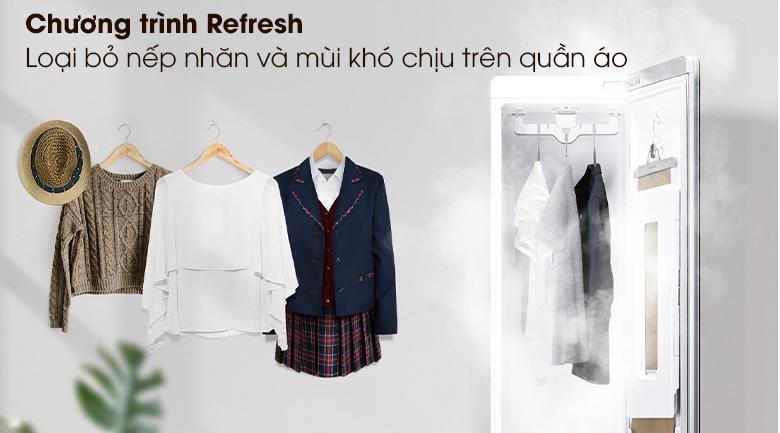 Tủ chăm sóc quần áo thông minh LG Styler S3RF - Chương trình Refresh