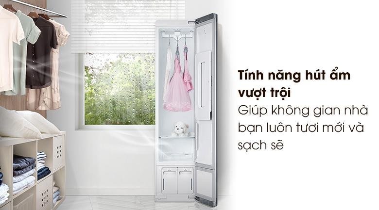 Tủ chăm sóc quần áo thông minh LG Styler S3RF - Hút ẩm vượt trội