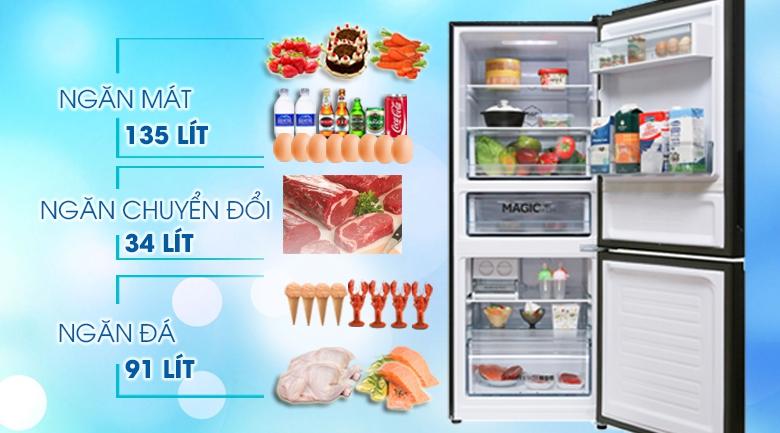 Dung tích - Tủ lạnh Aqua Inverter 260 lít AQR-I298EB