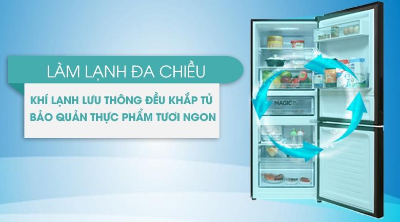 Làm lạnh đa chiều - Tủ lạnh Aqua Inverter 260 lít AQR-I298EB