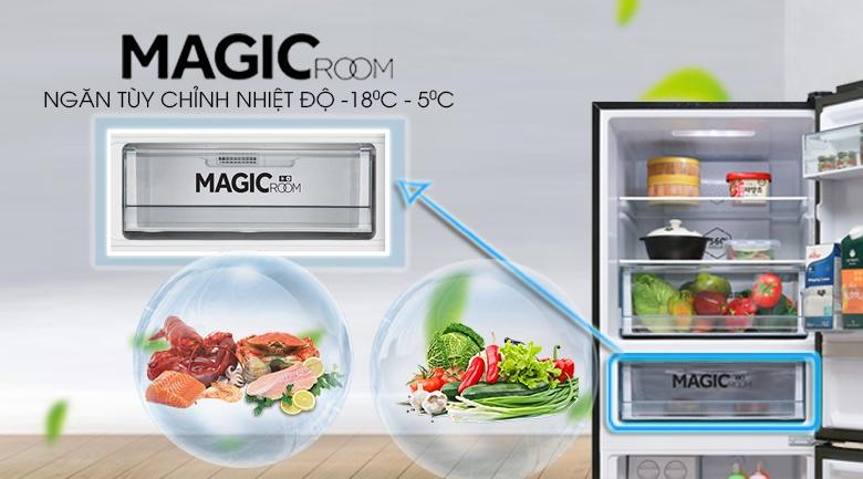 Ngăn magic room - Tủ lạnh Aqua Inverter 260 lít AQR-I298EB